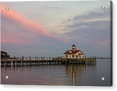 Sunset At The Lighthouse Acrylic Print by Gregg Southard