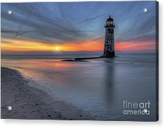 Sunset At The Lighthouse V3 Acrylic Print