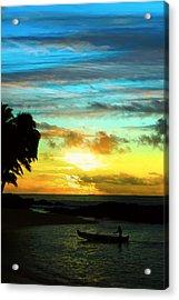 Sunset At The Luau Acrylic Print