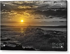 Sunset At The Ocean Acrylic Print