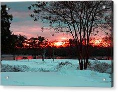 Sunset At The Park Acrylic Print by Carolyn Ricks