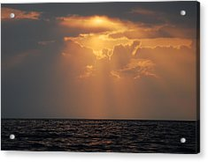 Sunset At The Sea Acrylic Print by Gynt
