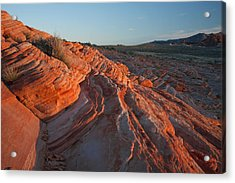 Sunset At The Valley Of Fire Acrylic Print