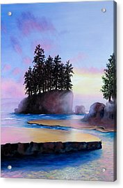 Sunset At Tongue Point Acrylic Print by Shelley Irish