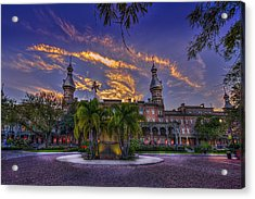 Sunset At U.t. Acrylic Print by Marvin Spates