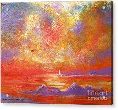 Sunset At Wingershaek Beach Acrylic Print