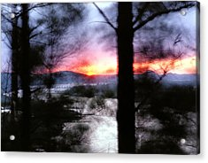 Acrylic Print featuring the photograph Sunset Atop Windy Emerald Park by Jason Politte