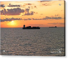 Acrylic Print featuring the photograph Sunset Baltic Sea by Art Photography