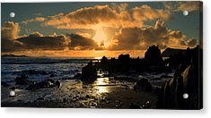 Sunset Acrylic Print by Barbara Walsh