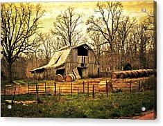 Sunset Barn Acrylic Print by Marty Koch