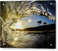 Sunset Barrel Acrylic Print