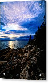 Sunset Bass Harbor Acrylic Print