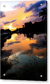 Sunset Bay Acrylic Print by AR Annahita