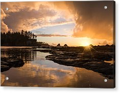 Sunset Bay Reflections Acrylic Print