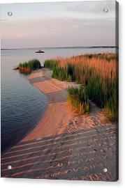Acrylic Print featuring the digital art Sunset Beach by Kelvin Booker