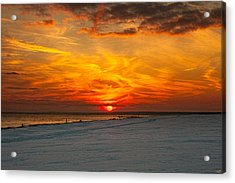 Acrylic Print featuring the photograph Sunset Beach New York by Chris Lord