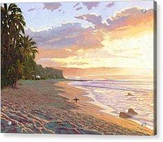 Sunset Beach - Oahu Acrylic Print by Steve Simon