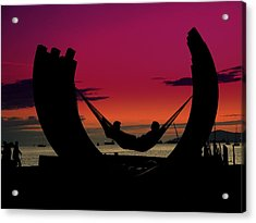Sunset Beach Relaxation Acrylic Print
