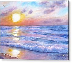 Sunset Beach Hawaii Seascape  Acrylic Print