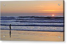 Sunset Beach Stroll  Acrylic Print