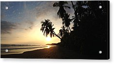 Sunset Beach Acrylic Print by Tropigallery -