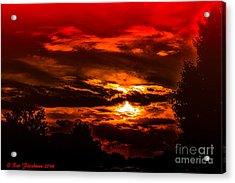 Sunset Before The Storm Acrylic Print by Ron Fleishman