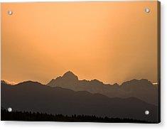 Sunset Behind The Julian Alps Acrylic Print
