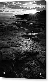Sunset Beyond Black And White Acrylic Print