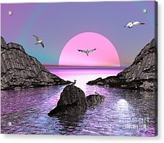 Sunset Birds In Flight Acrylic Print