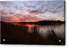 Sunset Bliss Acrylic Print by Lourry Legarde