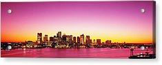 Sunset, Boston, Massachusetts, Usa Acrylic Print by Panoramic Images