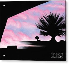Acrylic Print featuring the painting Sunset Boulevard Dreams by Tiffany Davis-Rustam
