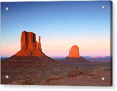 Sunset Buttes In Monument Valley Arizona Acrylic Print by Katrina Brown