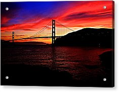 Acrylic Print featuring the photograph Sunset By The Bay by Dave Files