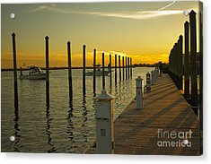 Acrylic Print featuring the photograph Sunset By The Marina One by Jose Oquendo