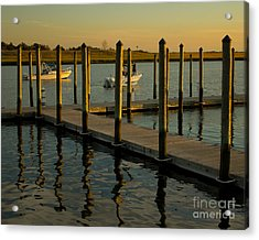 Acrylic Print featuring the photograph Sunset By The Marina Two by Jose Oquendo