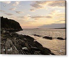 Acrylic Print featuring the photograph Sunset By The Sea by Jean Goodwin Brooks