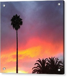 Sunset California Acrylic Print