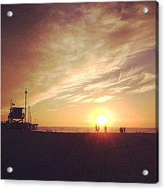 #sunset #california #pacificocean Acrylic Print