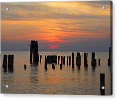 Sunset Cape Charles Acrylic Print by Richard Reeve