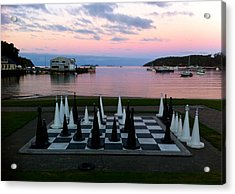 Sunset Chess At Half Moon Bay Acrylic Print