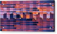 Sunset City Acrylic Print by Ben and Raisa Gertsberg