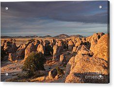 Acrylic Print featuring the photograph Sunset City Of Rocks by Martin Konopacki