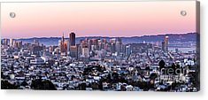 Acrylic Print featuring the photograph Sunset Cityscape by Kate Brown