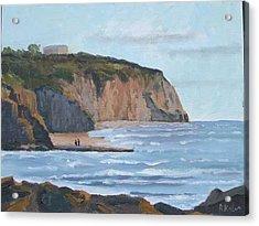 Sunset Cliffs Ca Acrylic Print by Raymond Kaler