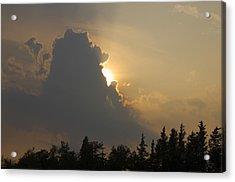 Sunset Cloud Acrylic Print by Greg Vizzi