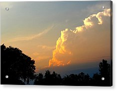Sunset Clouds Building Acrylic Print