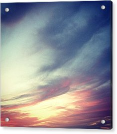 Sunset Clouds Acrylic Print by Christy Beckwith
