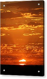 Acrylic Print featuring the photograph Sunset Clouds by Henry Kowalski