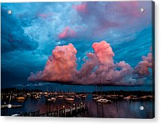 Sunset Clouds Acrylic Print by Jonathan Gewirtz